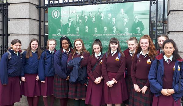 Student Council visit the Dáil